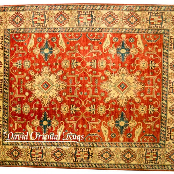 8x10 Kazak Rug 84p6 15792 David Oriental Rugs Houston